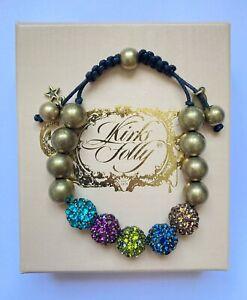 "Kirks Folly ""Fairy Fireball"" Adjustable Bracelet - Crystals - Boxed"