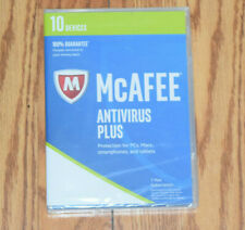 NEW McAFEE Antivirus Plus PCs Macs Smartphones Tablets 1 Year Subscription