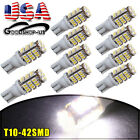 10 X White T10 42-SMD Car Trailer Backup Reverse LED Light Bulbs W5W 168 906 192