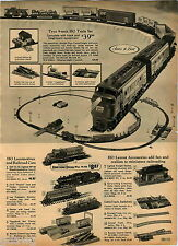 1970 ADVERT Tyco HO Scale Miniature Railroad Train Set Lionel 027 Freight Train