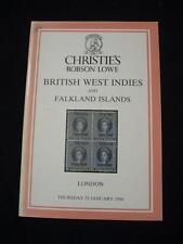 Christies Lowe catálogo 1986 British West Indies & Islas Malvinas