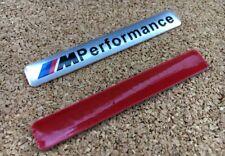 """BMW """"M"""" Performance Schriftzug 3D Aufkleber Sticker Emblem Logo SILBER"""