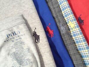 Lot of 6 Ralph Lauren Men's Polo Shirt Size XL L/S Button Down T-Shirt w/ Pony