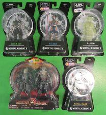 Mortal Kombat X Action Figure Lot Of 5 Quan Chi Raiden Kitana Kotal Kahn Reptile