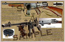 Thompson Military Submachine Gun Mod. of 1928A1 Poster 11 x 17