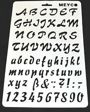 Wall Stencil Reusable Stencil Alphabet Stencils Letters Numbers Lettering No13