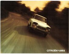 Citroen Ami 8 1972-73 UK Market Foldout Sales Brochure Saloon Estate