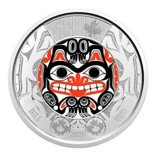 2020 Canada $2 Haida Art Bill Reids Birth BU Coloured Toonie Coin From Roll