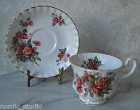 CENTENNIAL ROSE - TEA CUP SAUCER, TEACUP SET, Royal Albert, bone china, England