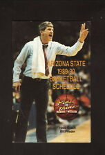 Arizona State Sun Devils--1989-90 Basketball Pocket Schedule--Miller Lite