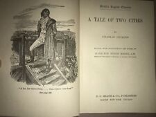 A Tale Of Two Cities - 1901 Antique, Charles Dickens, D C Heath, Hamilton Moore