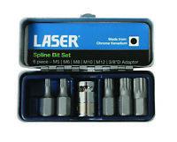 Laser Tools 0592 Spline Bit Set - 6Pc