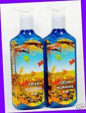 2 Bath & Body Works CRISP MORNING AIR Deep Cleansing Hand Soap PINE JUNIPER PEAR