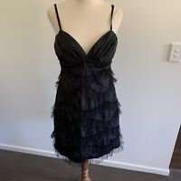 Ladies Grace & Hart Dress Size 12 Party Cocktail Formal Ruffle Beaded