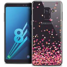 "Coque Gel Pour Galaxy A8 (2018) A530 (5.6"") Souple Sweetie Heart Flakes"