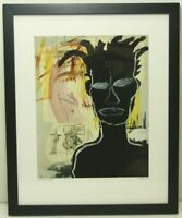 Jean Michel Basquiat Paintings UNTITLED 1984 (14.5 x 11.5) Framed