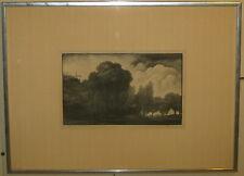 Rare 1936 THOMAS W NASON 'Edge of the Pasture' 2nd State Wood Engraving - Ed. 60