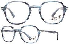 Persol Damen Herren Brillenfassung PO3142-V 1051 47mm grau transparent rund 61 5