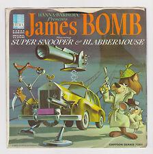 "1965 JAMES BOMB SUPER SNOOPER & BLABBERMOUSE HANNA BARBERA 45 VINYL RECORD 7"""