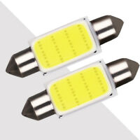 2pcs COB36 38mm White Festoon Interior Dome LED Light Car Ceiling Lamp Bulbs