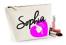 Personalised Make Up Wash Bag ANY NAME Kids Birthday Christmas Gift Present V2