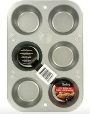 6Cup Muffin Cooking Pan Heavyweight Steel BakeWare-Rectangular Muffin Baking Pan