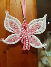 Cancer Awareness Ribbon - Butterfly - Free Standing Lace
