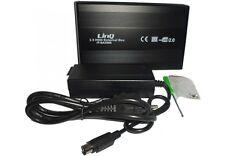 """BOX HDD ESTERNO DOCK STATION USB SATA IDE 3.5"""" HARD DISK ALIMENTATO ALLUMINIO"""