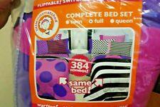 Missmatched Double Vision 7pc Full Bed-in-Bag Bedding Set - Reversible (27C)