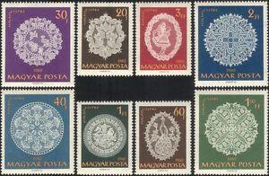 Hungary 1960 Lace-making/Crafts/Textiles/Design/Business/Commerce 8v set n45496