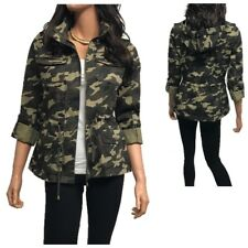 4ef5917a6c554 Women's Utility Anorak Military Camo Hooded Jacket (S-3XL)