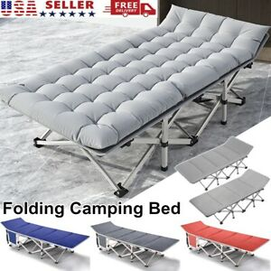 Camping Cot Outdoor Lightweight Camp Beach Bed Cot with Carry Bag Hurbo Folding Camp Bed Portable Sport COT Bed with Free Storage Bag