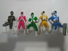 Power Rangers Lightspeed Rescue Figures 3.5 Blue Yellow Green Pink Gray lot of 6