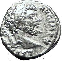 SEPTIMIUS SEVERUS 197AD Rome Silver Authentic Ancient Roman Coin Victory i59491