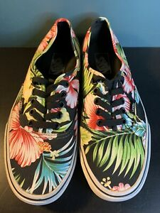 Vans Off the Wall Hawaiian Floral Sneakers Skate Shoes Men's size 8 Women's 9.5
