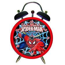 ULTIMATE SPIDERMAN MINI ALARM CLOCK RETRO TWIN BELL STYLE COMIC MARVEL AMAZING