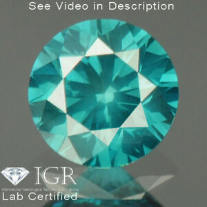 0.25 cts. CERTIFIED Round SI1 Vivid Sea Blue Color Loose Natural Diamond 24194