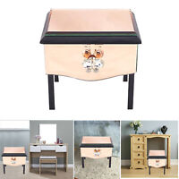 Bedside Table Nightstand Drawer Cabinet Home Bedroom Storage Mirror Glass Box 1x