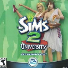 Sims 2: University PC, 2005 Expansion Pack EA Games in Jewel Case with Manual