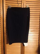 MAISON JULES NWT Women's Navy Pencil Above The Knee Casual Skirt XS