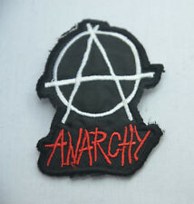 ANARCHY  ANARCHIST ANARCHISM 5x7cm EMBROIDERED SEW IRON ON JACKET PATCH BADGE