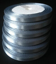 Silver Grey 1/4 6mm Satin Ribbon 18M/20 yrds Full Reel Wedding favor Christmas
