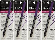 (4) Revlon Colorstay Eyeliner w/ Smudger & Sharpener New & Sealed 207 - Amethyst