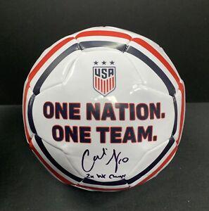 Carli Lloyd Signed Full Size USA Soccer Ball Auto Inscribed 2X SW Champs JSA COA