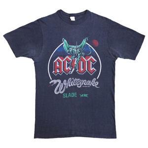 ACDC Whitesnake Monsters of Rock Tshirt | Vintage 80s Heavy Metal Music VTG