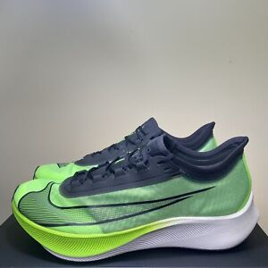 Nike Zoom Fly 3 Vapor Weave Running Shoes Electric Green AT8240-300 Mens Size 13