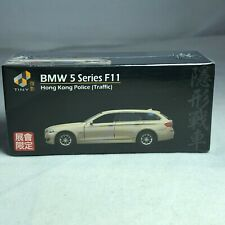 1/64 TINY DIE-CAST  - BMW 5 Series F11 Hong Kong Police Traffic Gold Toyfair