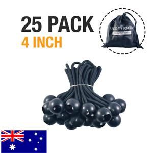 uComforts Premium Black Ball Bungee Cords, 25 Pack of 10 cm Black UV Treated