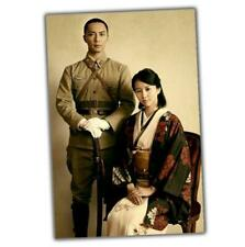 Japanese officer in Uniform and his wife Photo WW2 4x6 S