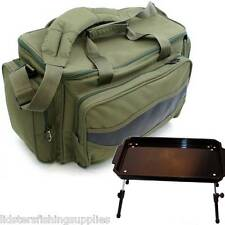 Carp Fishing Coarse Tackle Bag NGT 909 + Plastic Bivvy Bait Table Lightweight